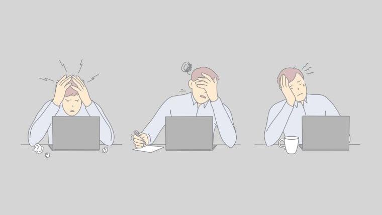 仕事辞めたい状態が続くと注意!うつ(鬱)病に見られる症状